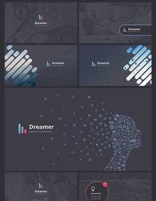 梦想家 PPT幻灯片演示模板 dreamer powerpoint template