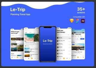 计划旅行用户界面工具包LeTrip Planning Travel UI KIT