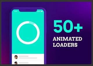 50多个动画加载程序50+ Animated Loaders