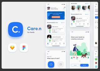 家庭iOS用户界面工具包Caren - For Family iOS UI Kit