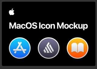 苹果元素模板图标模型MacOS Template Icon Mockup