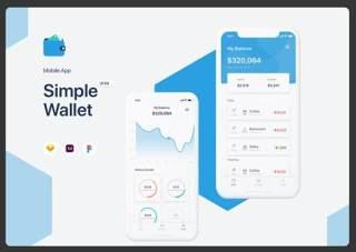 简单钱包应用程序用户界面用户体验工具包Simple Wallet App UI UX Kit