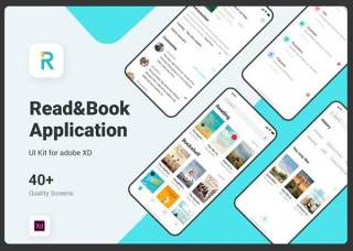阅读读书用户界面移动端素材Read & Book UI Kit for Adobe XD