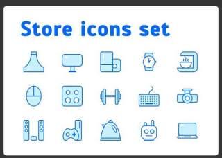 存储图标集元素Store Icons Set