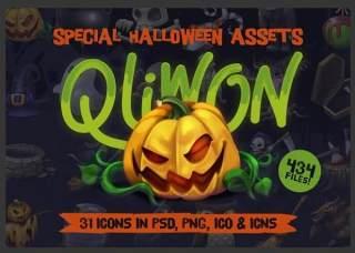万圣节图标素材集合QLIWON – Halloween Icon Set