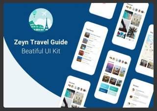 旅行指南用户界面工具包Zeyn Travel Guide UI Kit