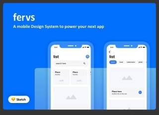 设计系统UI界面Fervs Design System