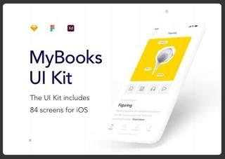 我的书阅读应用程序UI工具包MyBooks Reading App UI Kit