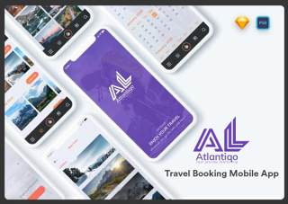 旅行社用户界面UI素材模板Atlantigo-Travel UI Kit