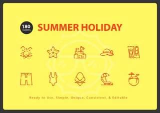 暑假小图标元素Summer Holiday