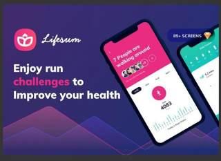 健康和健身移动应用程序-用户界面工具包Lifesum Health and Fitness Mobile App - UI kit