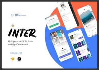 移动应用程序界面工具包Inter Mobile App UI Kit
