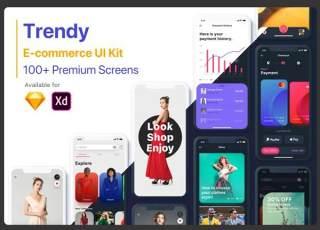电子商务UI工具包的发展趋势Trendy E-commerce UI Kit