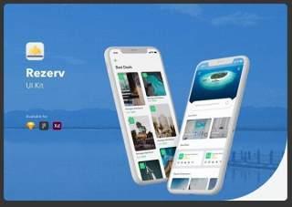 酒店和预订用户界面工具包Rezerv Hotel & Booking UI Kit