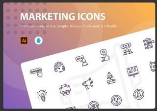 市场营销图标元素Marketing Icons