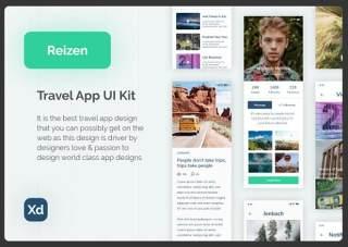 旅行用户界面工具包Reizen - Travel UI Kit