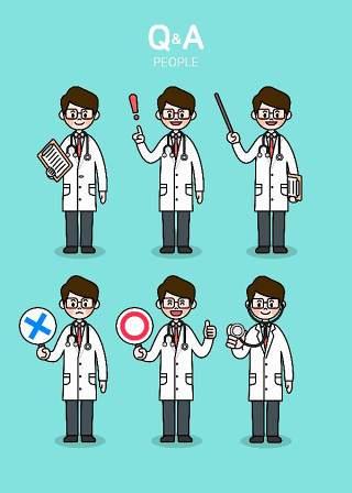 医生护士护理医疗医院医用卡通人物插画海报AI矢量素材模板