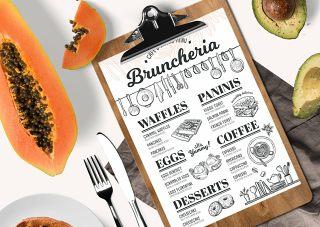 早午餐菜单模板PSD素材Brunch Menu Template