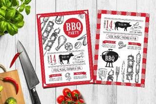 BBQ派对邀请PSD模板素材Bbq Party Invitation