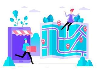 商务医院医疗科研网络电商购物网页卡通人物插画矢量AI设计素材14