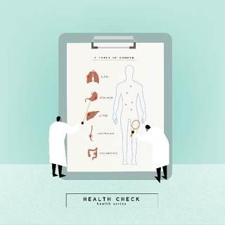 医生护士医疗健康卡通人物人体结构插画海报AI矢量素材模板