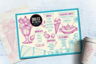 冰淇淋菜单模板PSD素材Ice Cream Menu Template