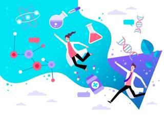 商务医院医疗科研网络电商购物网页卡通人物插画矢量AI设计素材3