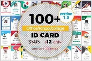 100个精美工作证胸牌员工证件模板矢量EPS素材