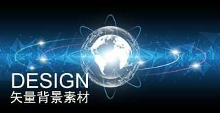 人工智能科技线条智慧圆形细胞主视觉海报Ai设计矢量背景素材