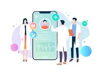 移动端医生护士医疗健康卫生知识宣传卡通人物插画海报AI矢量素材模板