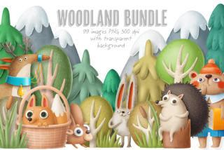 99款卡通动漫儿童可爱森林动物刺猬兔子马松鼠PNG免抠设计图素材