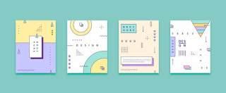 几何线性彩色平面设计孟菲斯封面布局矢量AI设计素材13