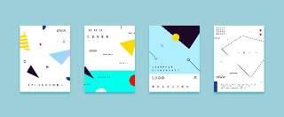 扁平化现代几何海报素材模板创意平面广告UI设计封面版式矢量26