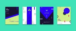 扁平化现代几何海报素材模板创意平面广告UI设计封面版式矢量22