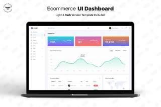电子商务网站管理后台仪表板用户UI界面工具包PSD模板E-commerce-Admin-Dashboard-UI-Kit