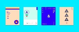 简洁现代几何扁平化海报创意平面广告UI设计封面版式矢量素材模板06