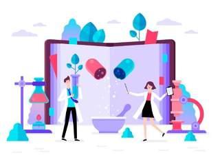 商务医院医疗科研网络电商购物网页卡通人物插画矢量AI设计素材8