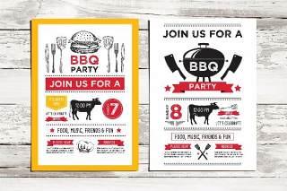 BBQ派对邀请PSD模板Bbq Party Invitation