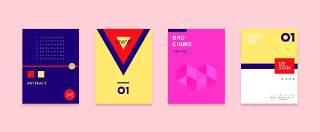 简洁现代几何扁平化海报创意平面广告UI设计封面版式矢量素材模板05