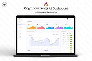 加密货币网站后台管理仪表板用户界面PSD模板UI设计工具包Cryptocurrency-Admin-Dashboard-UI-KIT