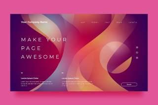 紫红色网站UX和UI套件渐变抽象背景界面设计平面AI矢量素材SRTP Abstract Background.18