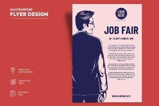 国外招聘会传单宣传页设计促销折扣单页AI矢量素材Flyer Design Vol.14