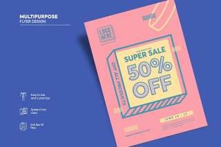 传单宣传页设计促销单页AI矢量素材Flyer Design Vol.03