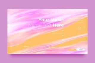 粉色网站UX和UI套件渐变抽象背景界面设计平面AI矢量素材SRTP Abstract Background.28