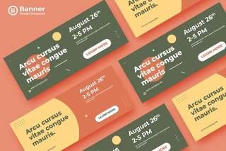 网页banner模板平面广告AI矢量抽象背景素材ADL Banner Templates.25
