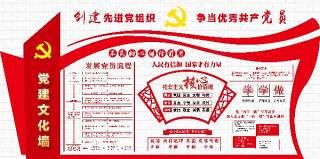 红色社会主义核心价值观党建文化墙PSD设计展板宣传栏