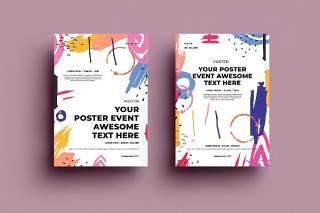 抽象背景传单平面宣传折页海报设计模板AI矢量素材SRTP Poster Design.32
