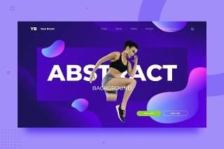 渐变流体抽象背景平面WEB网页PSD矢量界面素材SRTP Abstract Background.v2.7