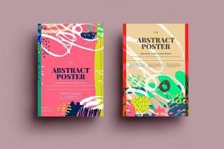 抽象背景传单平面宣传折页海报设计模板AI矢量素材SRTP Poster Design.34