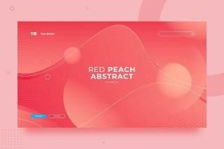 红色渐变抽象背景平面海报PSD矢量界面素材ISC Abstract Background v2.2
